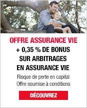 Bonus Assurance vie sur versements