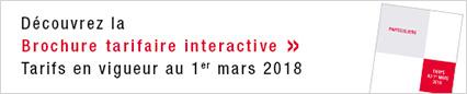 Brochure tarifaire interactive