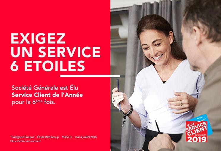 Société Générale élue service client de l'année 2015