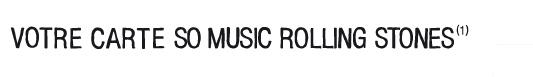 VOTRE CARTE SO MUSIC ROLLING STONES(1)