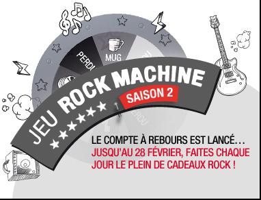 Le compte à rebours est lancé... Jusqu'au 28 février, faites chaque Jour le plein de cadeaux rock !
