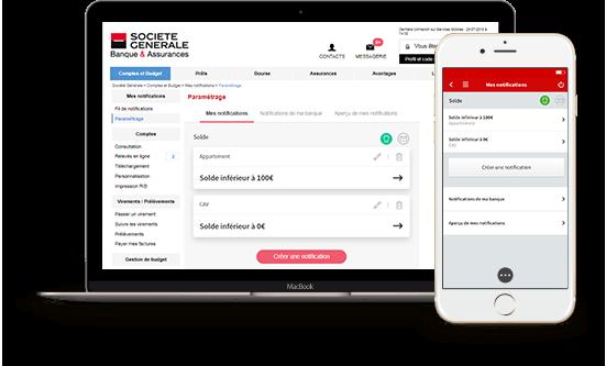 Capture d'écran iPhone/Mac du site Société générale