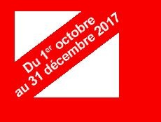 Du 1er octobre au 31 décembre 2017