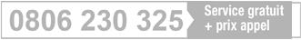 0 810 09 300 Service 0.06€/min + prix appel